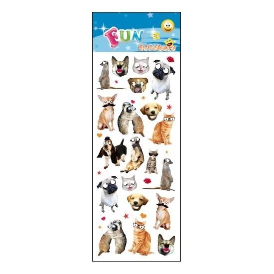 Stickervel dieren funny