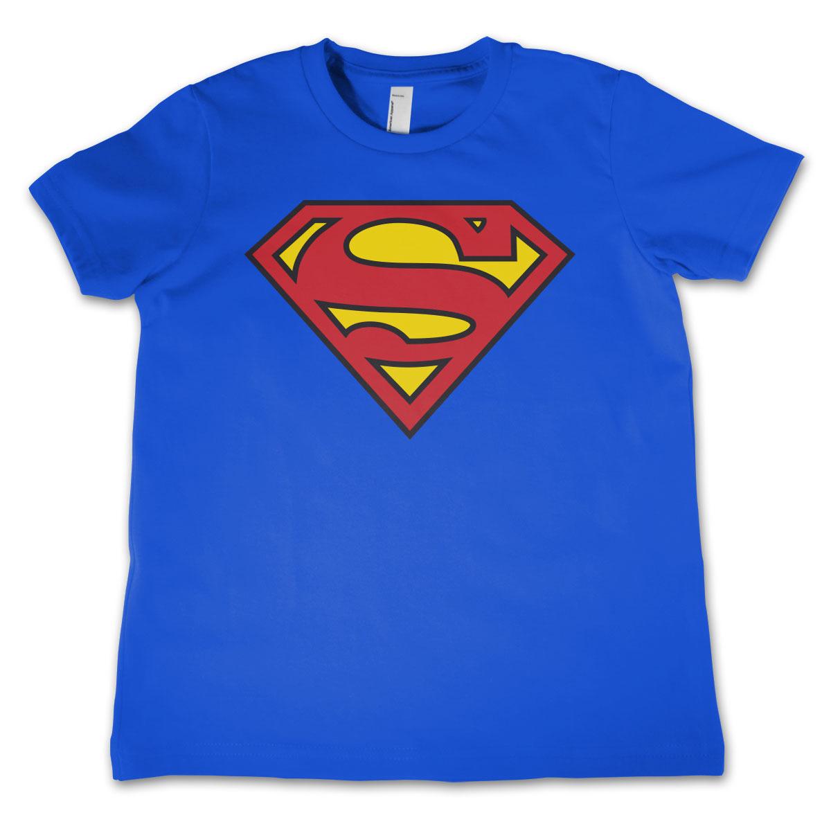 Superman logo t-shirt voor jongens/meisjes