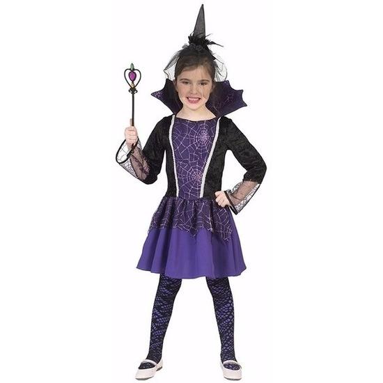 Vampier verkleedjurk paars voor meisjes