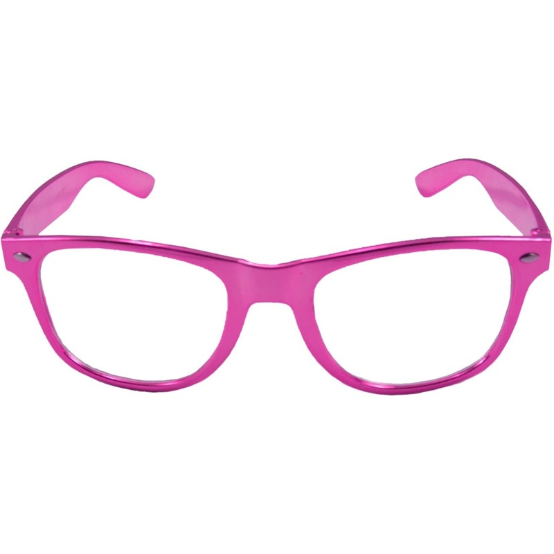 Verkleed bril metallic roze