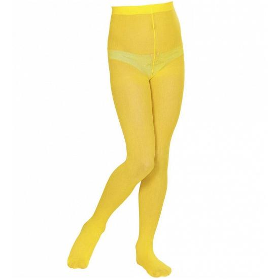 Verkleed Gele panty voor kinderen