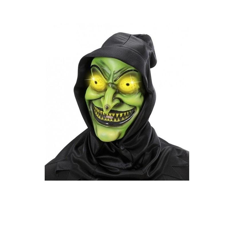 Verkleed Heksen masker lichtgevend