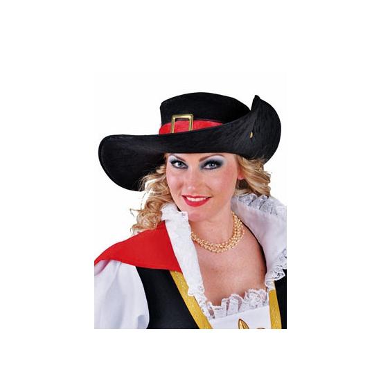 Verkleed hoed musketiers deluxe