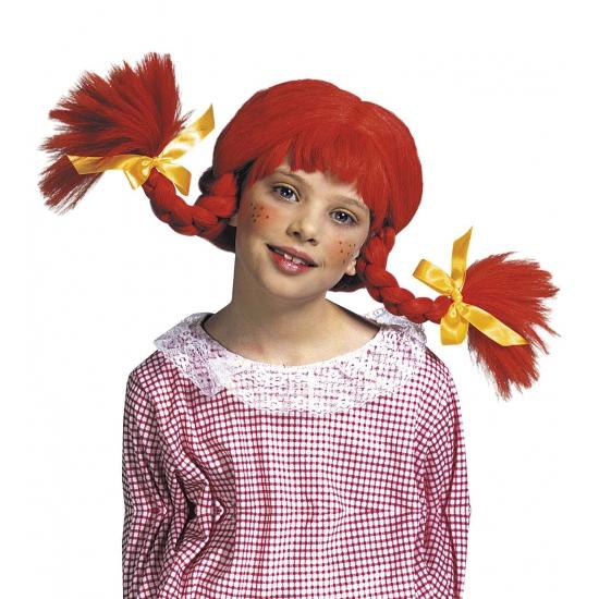 Verkleed Kinderpruik rood
