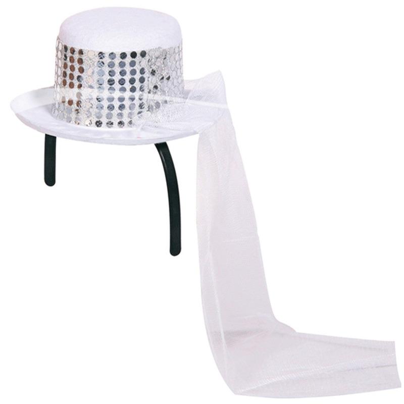 Verkleed Mini bruidshoedje met sluier