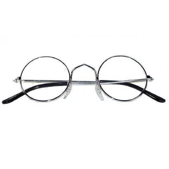 Verkleed Ronde oma/opa bril metalen montuur
