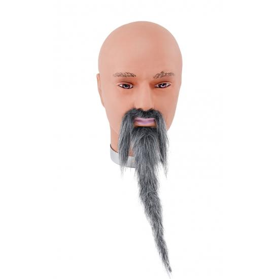 Verkleed Tovenaars baard en snor grijs