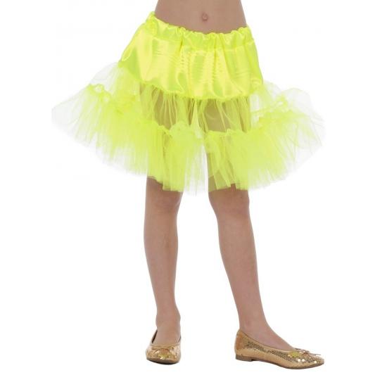Verkleedkleding Gele petticoat voor kinderen