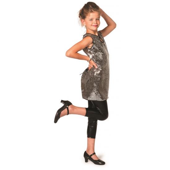 Verkleedkleding Glitter jurk zilver meisjes