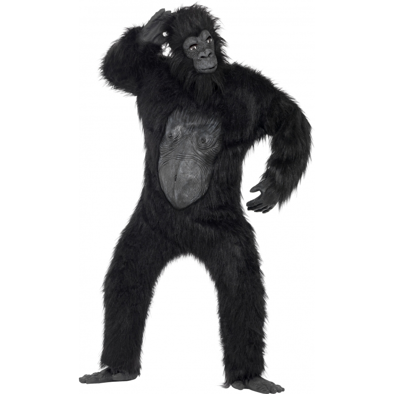 Verkleedkleding Luxe gorilla kostuum