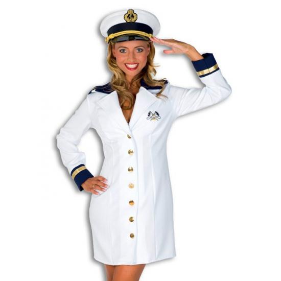 Verkleedkleding Luxe kapiteins jurkje voor dames