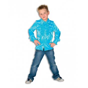 Verkleedkleding Rouches blouse blauw voor kids