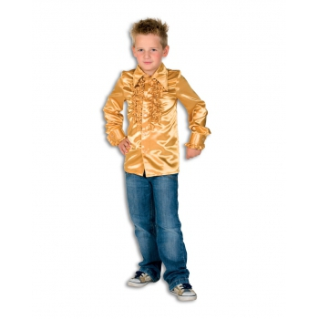 Verkleedkleding Rouches blouse  goud voor kids