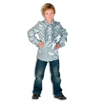 Verkleedkleding Rouches blouse  zilver voor kids
