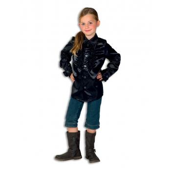 Verkleedkleding Rouches blouse  zwart voor kids