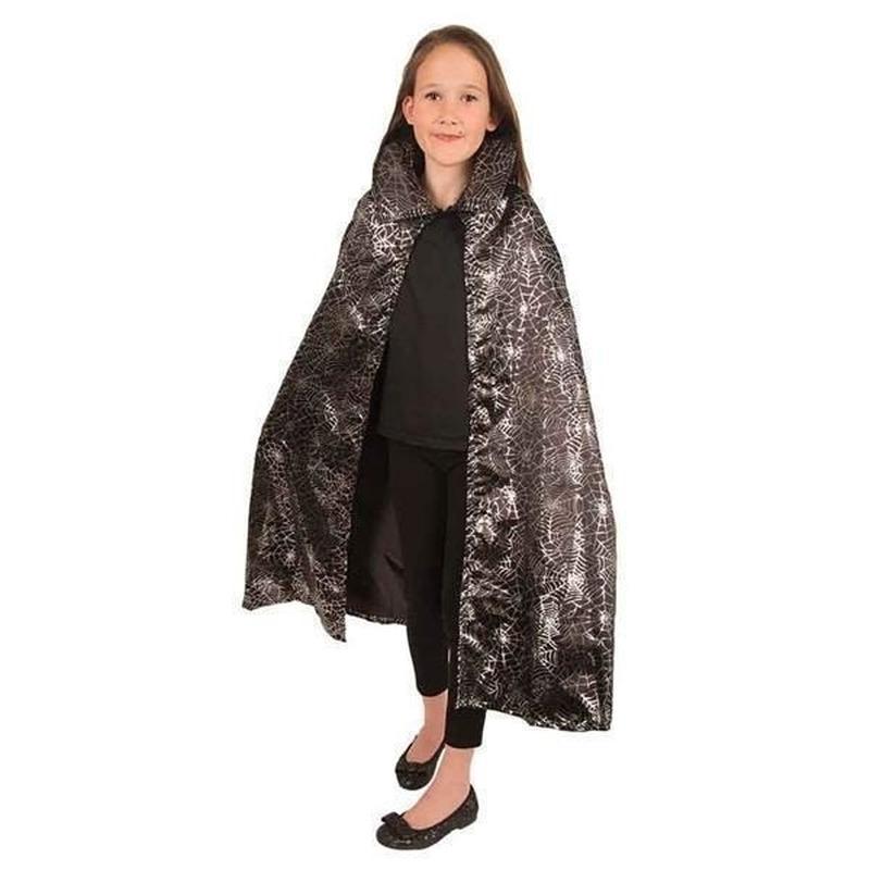 Verkleedkleding Spinnenweb cape voor kinderen
