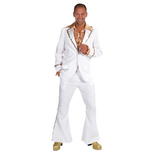 Verkleedkleding Wit Bling Bling kostuum heren