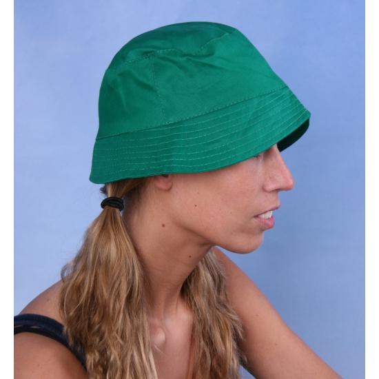 Vissershoedje/zonnehoedjes groen voor volwassenen
