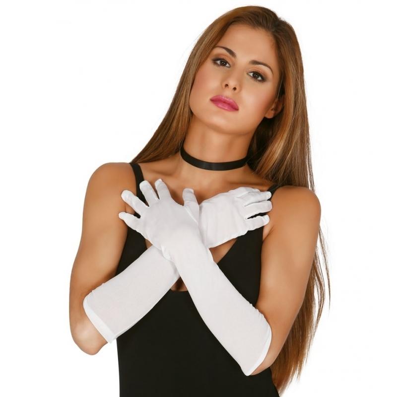 Voordelige witte gala handschoenen voor volwassenen