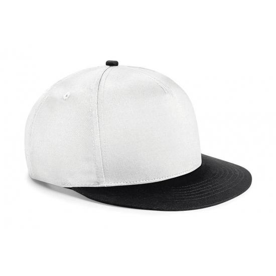 Wit met zwarte kinder baseball cap