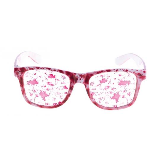 Witte bloederige bril