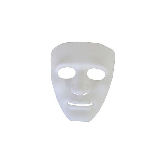 Witte maskers Halloween spook