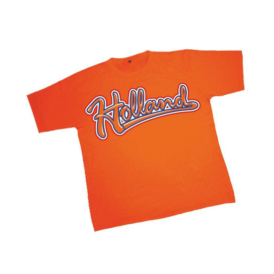 WK oranje baseball shirt met Holland opdruk