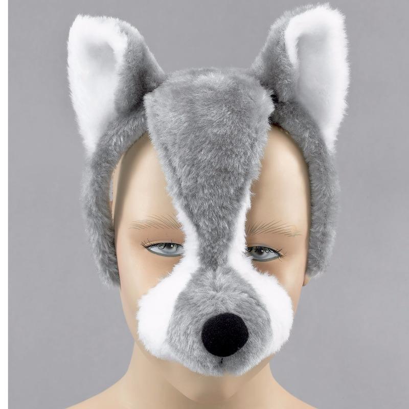Wolf verkleedset met geluid volwassenen