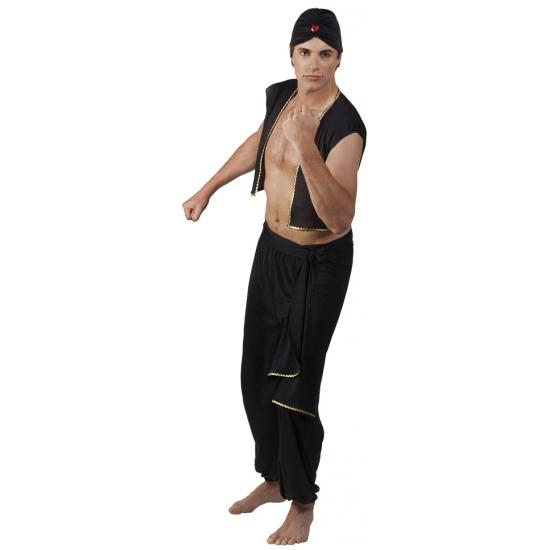 Zwart Sultan kostuum voor heren Alkmaar